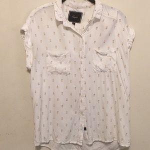 Rails Britt Pineapple Button-Down Shirt Small